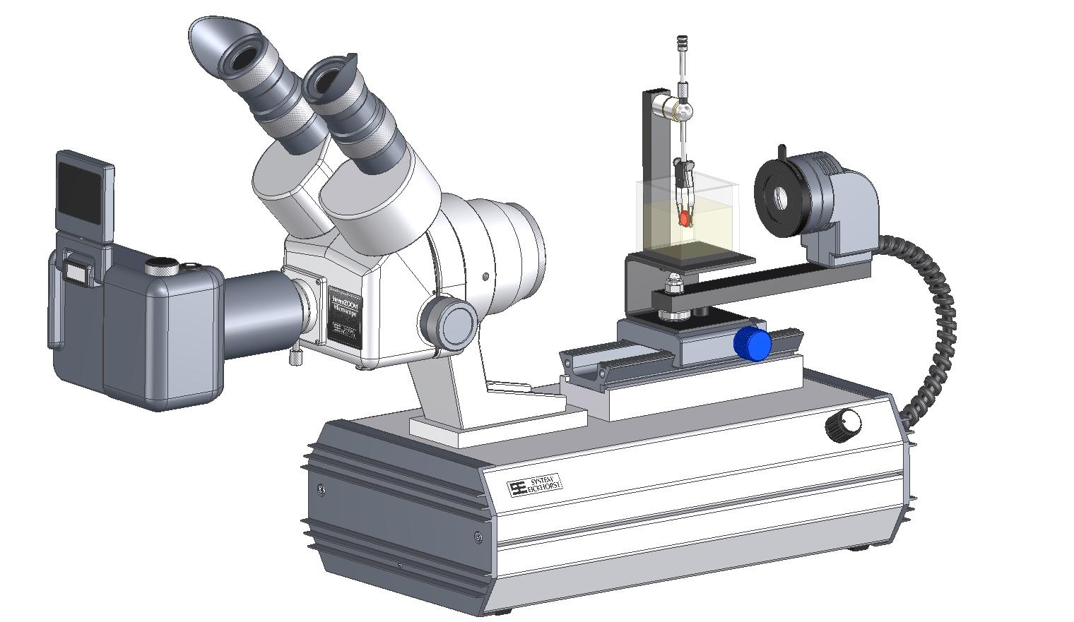 SYNTEST Immersions Mikroskop STARTER Trinokular