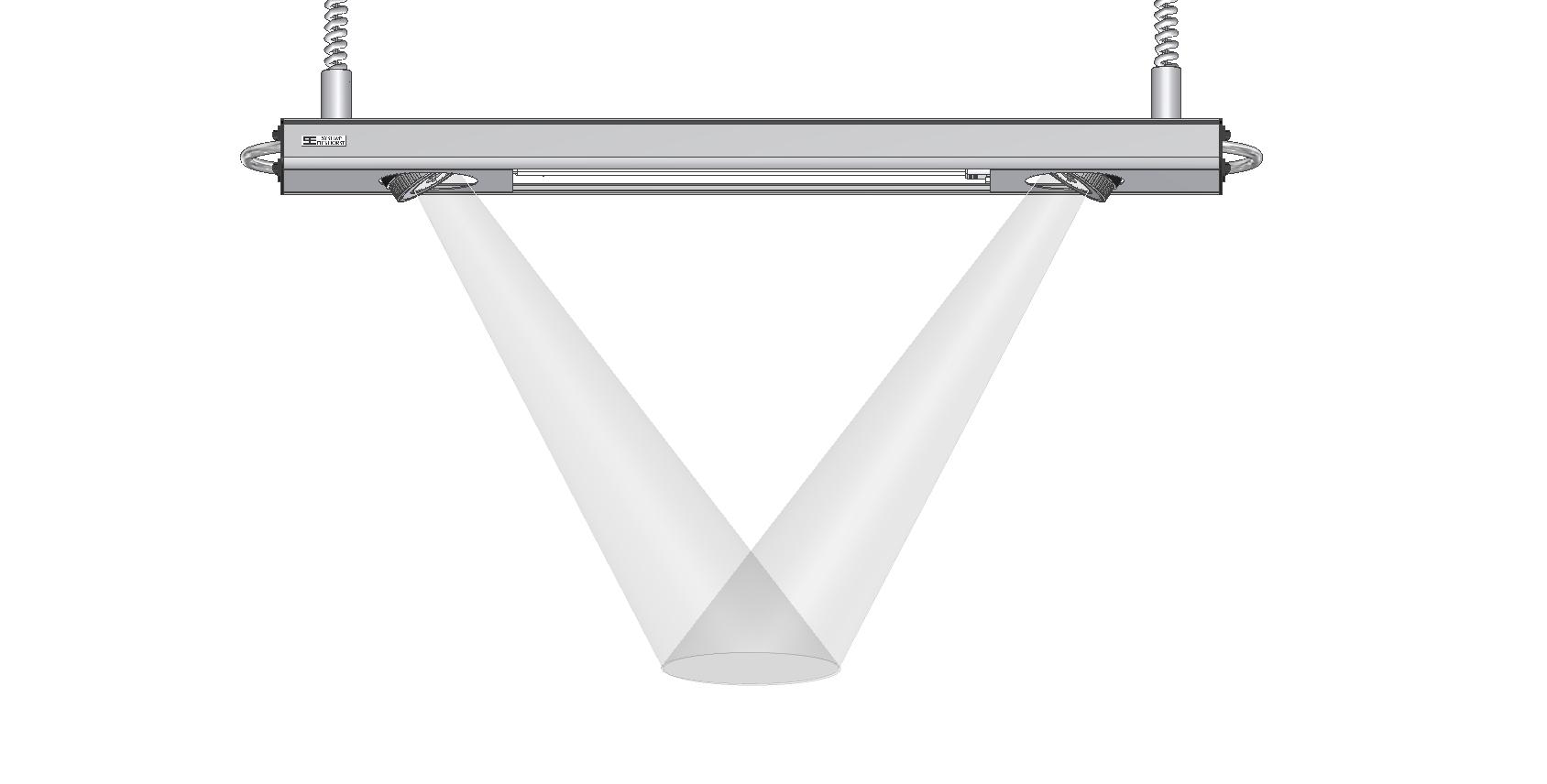 DIALITE X Hybrid 2/55 - Arbeitsplatzbeleuchtung - Tageslichtleuchte